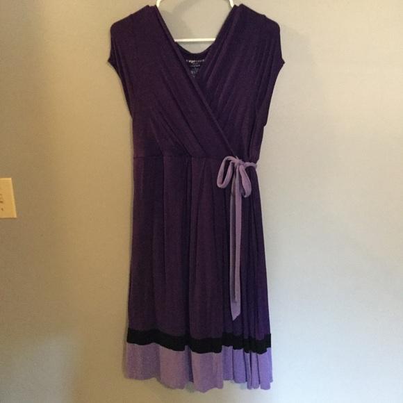 ff21fbe511361 Liz Lange Dresses | Purple Maternity Or Nursing Dress | Poshmark